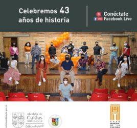 Celebremos 43 años de historia, invitacion facebook live