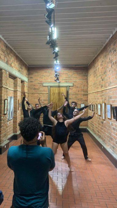 Muestra teatral realizada en la casa de la cultura